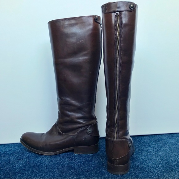 47912c377370 Frye Shoes - Frye Melissa Button Back Zip boot - Extended Calf